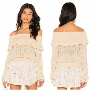 NWT Free People Crazy In Love Ruffle Sweater
